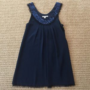 Alice & Olivia Sleeveless Navy Blue Dress Small